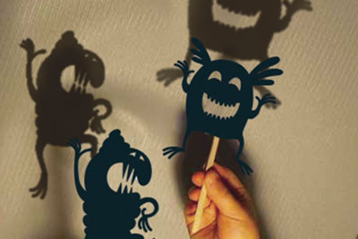 monster shadow puppets st neots museum